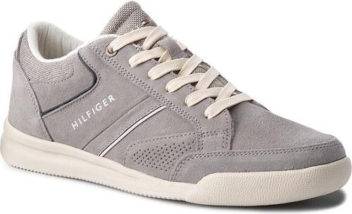 6192782dff Sportcipő TOMMY HILFIGER - Corporate Detail Suede Sneaker FM0FM01622 Light  Grey 004