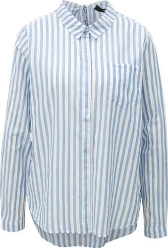 777d4987426d Bielo-modrá dámska košeľa s mašľou Broadway Dayna - Glami.sk