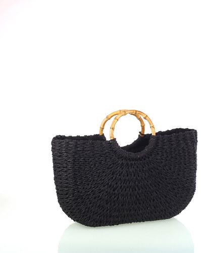 f7184fd2a6 Dámská pletená taška ze syntetické rafie Kbas černá 318814N - Glami.cz