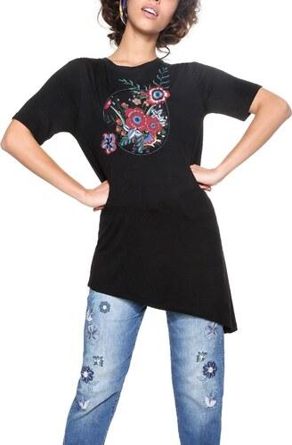 Desigual čierne asymetrické tričko Kendari - Glami.sk 00660f70fd6