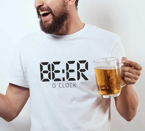 b1cb63511988 TRIKOO Pánské tričko BEER O´Clock čas na PIVO pro pivaře - Glami.cz