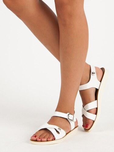 d5b4c18f8f78 Biele sandále so sponou 761W - Glami.sk