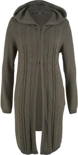 53e76e95c5fb Bonprix Dlhý pletený sveter s kapucňou - Glami.sk