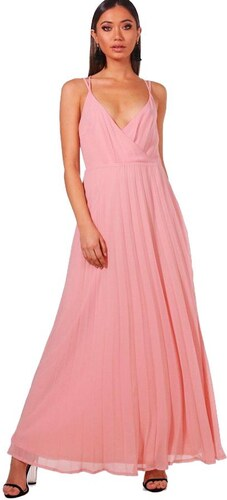BOOHOO Růžové šifonové maxi šaty Jenny - Glami.cz b57b6a6dfc