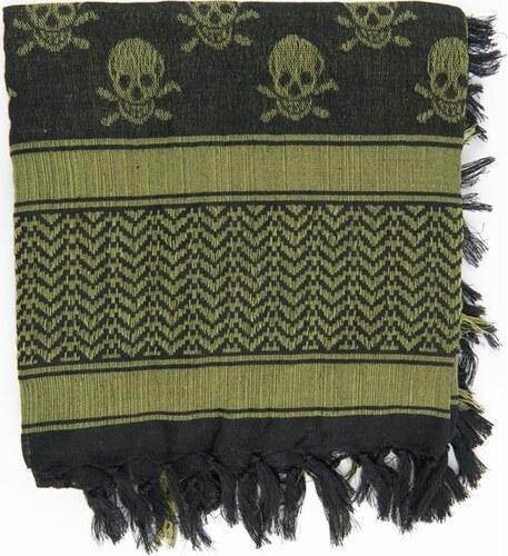 fe000dcb809 Max Fuchs Šátek Palestina  Lebky olivová