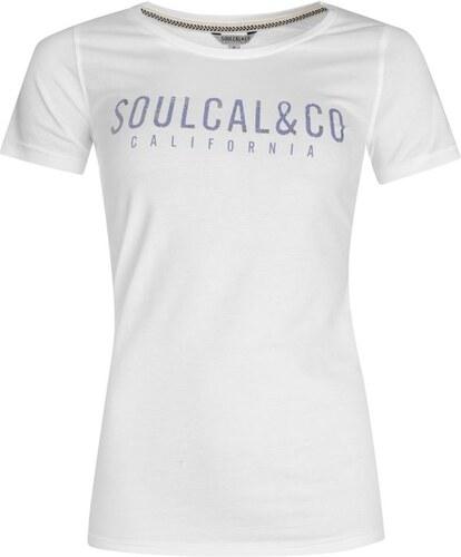 SoulCal Co. Dámské Tričko SoulCal Logo Bílé - Glami.cz 5c9157695d