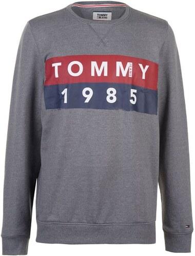 Tommy Hilfiger Pánská mikina Tommy Jeans 1985 Logo Šedá - Glami.cz 6d4e4215f20