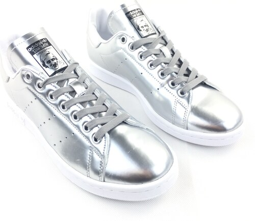 d736f746ece Dámské boty adidas Originals Stan Smith Silver - Glami.sk
