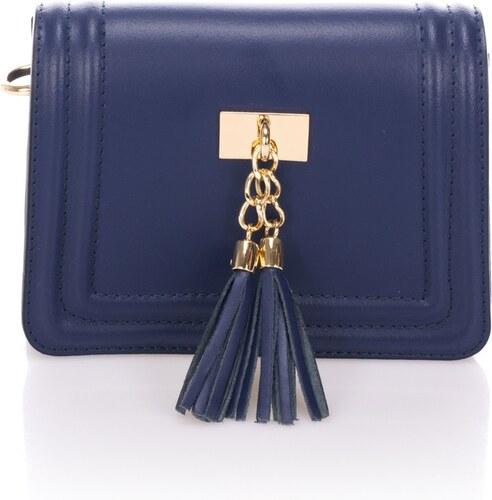 Modrá kožená listová kabelka Giorgio Costa Abelia - Glami.sk 232334f6bee