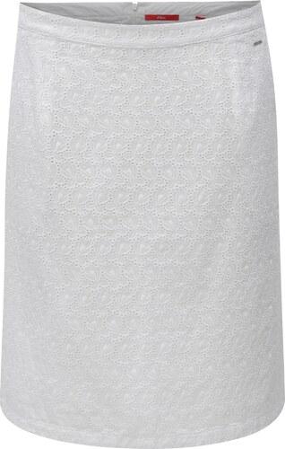 a74355de1701 Biela áčková sukňa s čipkou s.Oliver - Glami.sk