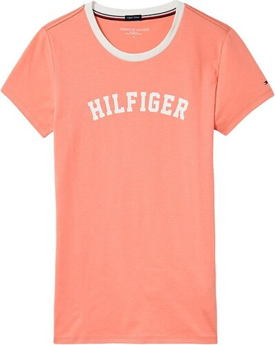 81f25d923259 Tommy Hilfiger lososové dámské tričko SS Tee Print - XS - Glami.cz