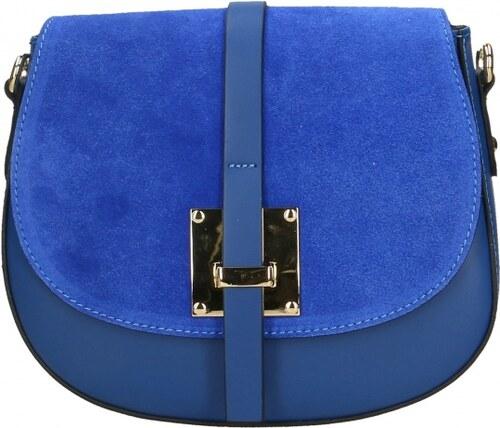 -15% Kožená větší sivá crossbody kabelka cez rameno bella VERA PELLE 6975e91d0a4