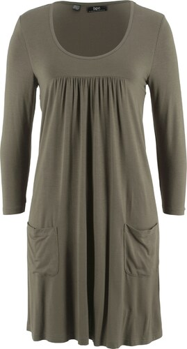 51586f411a4deb bpc bonprix collection Shirt-Kleid mit 3/4-Arm in grün von bonprix ...