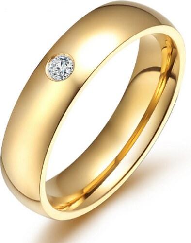 3c20d388a Smartuj Dámský prsten z chirurgické oceli se zirkonem v imitaci diamantu-  zlatý SR000022