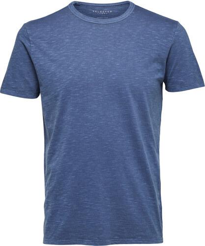f55297b87c1f SELECTED HOMME Modré žíhané tričko O Neck S - Glami.cz