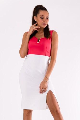 EMAMODA Dámské společenské šaty Emamoda Elegance růžové - RASPBERRY ... 760426eb65