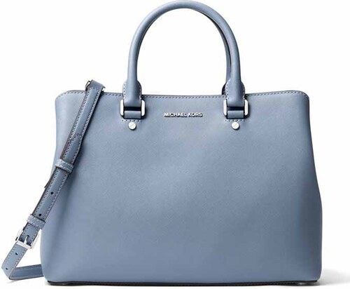 Michael Kors Savannah large satchel pale blue - Glami.cz 9af63e9d892