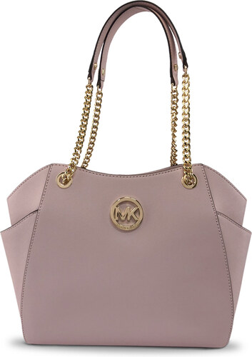 Michael Kors Jet Set Travel Saffiano Leather LG Chain Shoulder Tote Kabelka  růžová e79e952ebfe