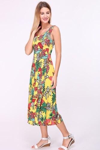 3eebf7a5463 REVDELLE Letní midi šaty JORDANIE žluté - Glami.cz