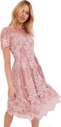 LITTLE MISTRESS Růžové šifónové šaty kombinované krajkou - Glami.cz 2ed89779f6