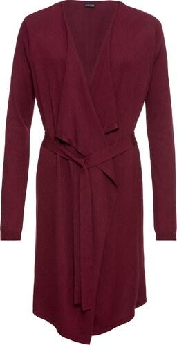 Bodyflirt Bonprix Pour Maille Manches En Longues Manteau Femme Rouge RFrqnORw