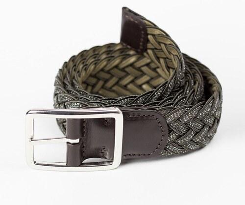 18af0957a5 ANDERSON S Hnedý textilný opasok Leather Calf 90 - Glami.sk