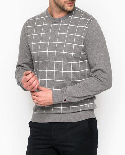 Tommy Hilfiger pánský šedý svetr - Glami.cz 6047658f71