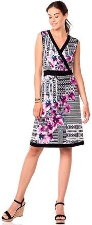 Elegantní šaty s květy Vamp! 6917 černobílá - Glami.cz b19adba856