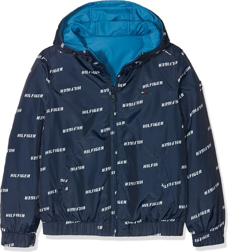 c66415ac361e37 Tommy Hilfiger Jungen Jacke Essential Reversible Hooded Jacket, Blau (Black  Iris 002), 140 (Herstellergröße: 10)