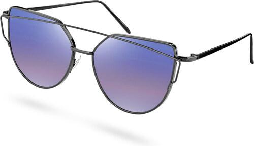 Paul Riley Polarizované slnečné okuliare s fialovým nádychom a abstraktným  rámom 9da561084e9