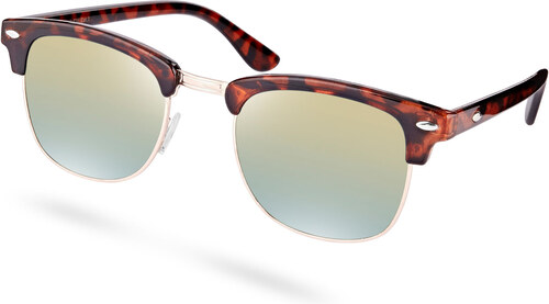 Paul Riley Korytnačie slnečné okuliare so zrkadlovými šošovkami ... bf00c9c6eab