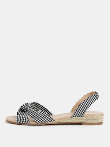 b485db80a827 Čierno-biele kockované sandále Dorothy Perkins - Glami.sk