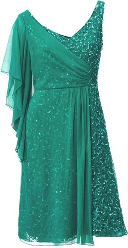 Ashley Brooke Kokteilové smaragdové šaty - Glami.sk e0c8eb85332