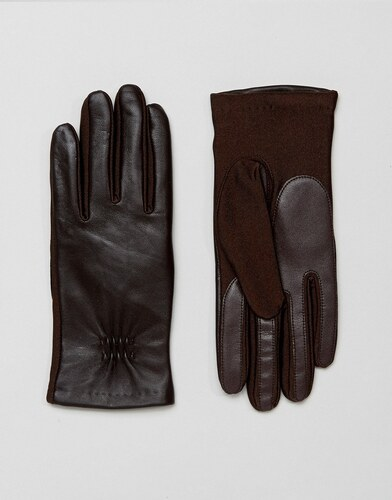 Barney s Originals Real Leather Gloves With Smart Phone Touch Screen  Compatible - Brown 947a3d2f41