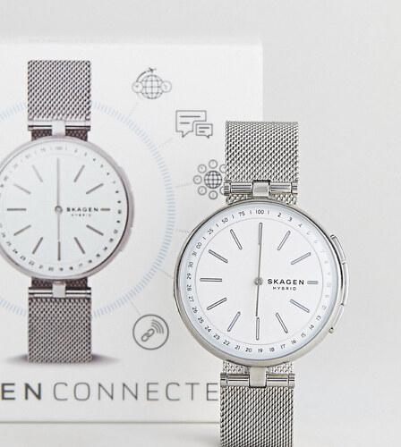 Skagen Connected SKT1400 Signatur Mesh Hybrid Smart Watch In Silver - Silver 8523bdc86c5