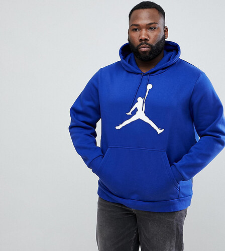 Nike Jordan PLUS Flight Fleece Pullover Hoodie In Blue AH4507-455 - Blue 1574610f0c
