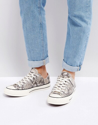 68ee0d752311 Converse Chuck Taylor All Star  70 Snake Pack Ox Plimsolls In Brown 158857C  - Brown