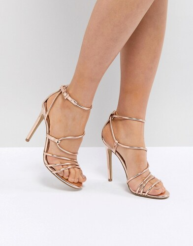 2cf7269ccf4 Steve Madden Smith Rose Gold Strappy Sandals - Rose gold - Glami.cz