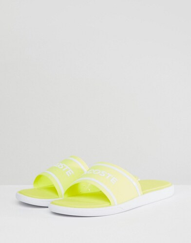 c48dcde0ad1 Lacoste L.30 Logo Sliders In Yellow - Yellow - Glami.cz