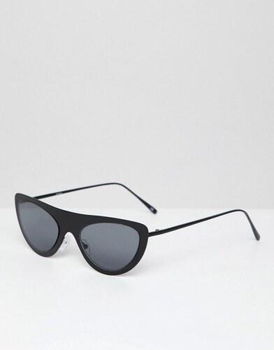 4392dc1a7 ASOS DESIGN cat eye angular oval sunglasses in matte black metal - Black