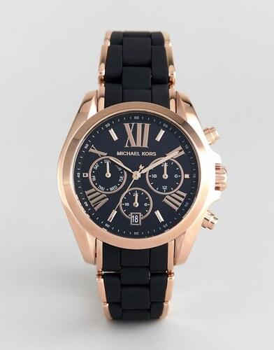 4445eb68e1e2 Michael Kors MK6580 Bradshaw Watch with Silicone   Metal Strap - Black