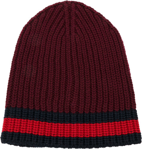 c7c98bfb0 Gucci Web trim knitted beanie - Red - Glami.sk