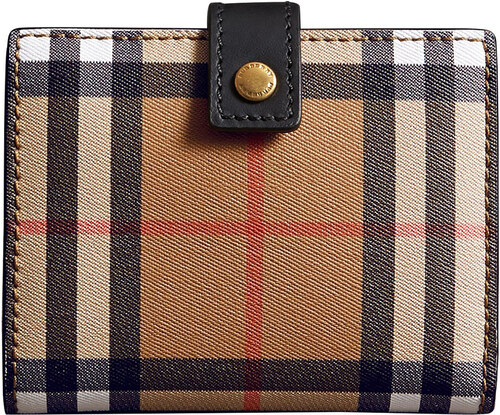 Burberry small vintage check wallet - Black - Glami.sk e8d78e4aeb3