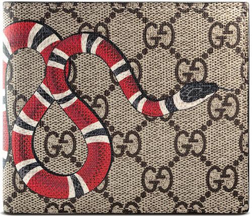 Gucci Kingsnake print GG Supreme coin wallet - Neutrals - Glami.sk ed72af1665a