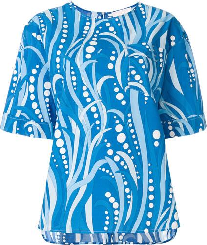 6f4a3c14e La Doublej Polipo boxy T-shirt - Blue - Glami.cz