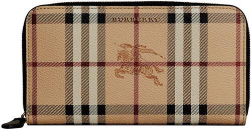 Burberry Haymarket Check ziparound wallet - Black - Glami.sk ff86dbce945