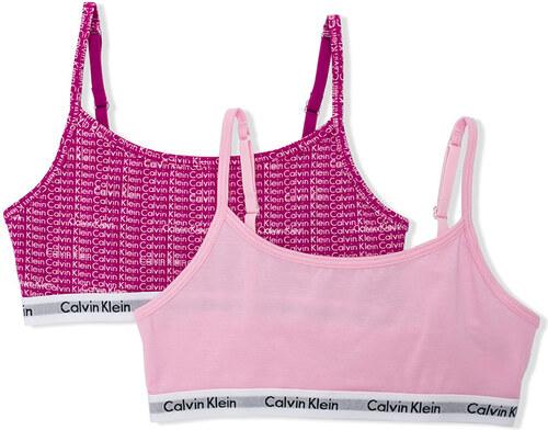 74ed6890f3c3f Calvin Klein Kids logo printed sports bra set - Pink   Purple - Glami.cz