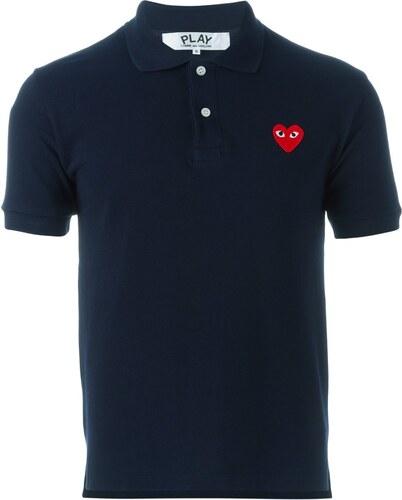 Comme Des Garçons Play embroidered heart polo shirt - Blue - Glami.hu e9402fe4e7