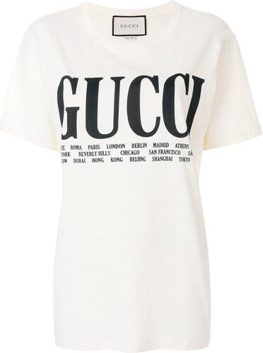 c3fc827cf Gucci cities print T-shirt - Neutrals - Glami.sk