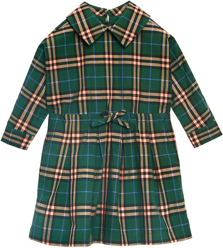 d49e93880 Burberry Kids Check Cotton Drawcord Dress - Green - Glami.sk